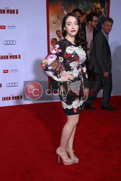 "Kat Dennings<br /> at the ""Iron Man 3"" Los Angeles Premiere, El Capitan, Hollywood, CA 04-24-13<br /> David Edwards/Dailyceleb.com 818-249-4998"