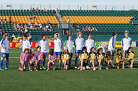 Rochester, NY - Friday May 27, 2016: Boston Breakers Starting Eleven. The Western New York Flash defeated the Boston Breakers 4-0 during a regular season National Women's Soccer League (NWSL) match at Rochester Rhinos Stadium.