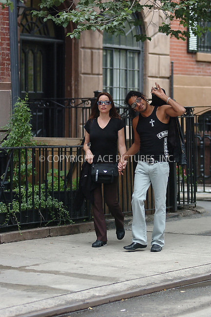 WWW.ACEPIXS.COM . . . . . ....July 2006, New York City. ....NY Candids: Naveen Andrews, Barbara Hershey ....Please byline: ALI GOLDSTEIN - ACEPIXS.COM.. . . . . . ..Ace Pictures, Inc:  ..(212) 243-8787 or (646) 769 0430..e-mail: info@acepixs.com..web: http://www.acepixs.com