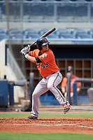 Baltimore Orioles Trevor Craport (59) at bat during a Florida Instructional League game against the Tampa Bay Rays on October 1, 2018 at the Charlotte Sports Park in Port Charlotte, Florida.  (Mike Janes/Four Seam Images)