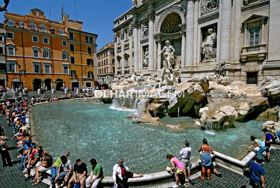 Fontana di Trevi em Roma. Itália. 2006. Foto de Luciana Whitaker.