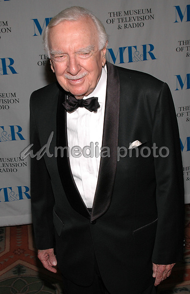 26 May 2005 - New York, New York - Walter Cronkite arrives at The Museum of Television and Radio's Annual Gala where Merv Griffin is being honored for his award winning career in radio and television.<br />