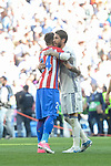 Real Madrid's Sergio Ramos and Atletico de Madrid's José María Giménez during La Liga match between Real Madrid and Atletico de Madrid at Santiago Bernabeu Stadium in Madrid, April 08, 2017. Spain.<br /> (ALTERPHOTOS/BorjaB.Hojas)