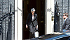 Theresa May <br /> Prime Minister <br /> makes a speech in Downing Street following a terrorist attack on the Finsbury Park Mosque 19th June 2017 <br /> <br /> Theresa May outside No. 10 Downing Street, London, Great Britain after speech as she leaves to visit the mosque in Finsbury Park.  <br /> <br /> Photograph by Elliott Franks <br /> Image licensed to Elliott Franks Photography Services