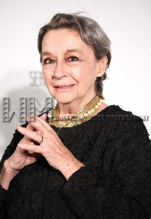 Zoe Caldwell attending the Drama League's 29th Annual Musical Celebration of Broadway Honoring Audra McDonald at the Pierre Hotel in New York City on 2/11/2013