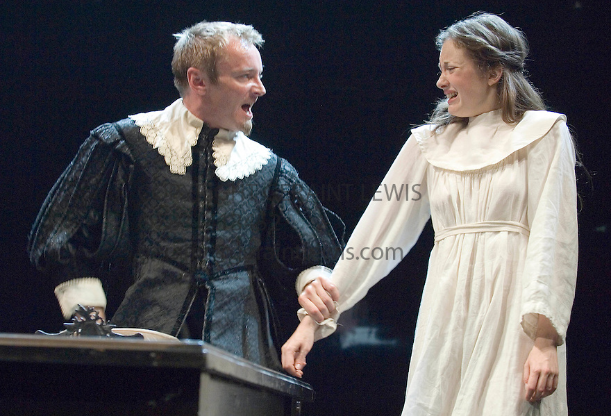 Measure For Measure by William Shakespeare,directed by Sir Peter Hall. With Richard Dormer as Angelo,Andrea Riseborough as Isabella. Opens at the Theatre Royal Bath on 12/7/06. CREDIT Geraint Lewis