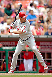 11 June 2006: Pat Burrell, outfielder for the Philadelphia Phillies, at bat during a game against the Washington Nationals at RFK Stadium, in Washington, DC. The Nationals shut out the visiting Phillies 6-0 to take the series three games to one...Mandatory Photo Credit: Ed Wolfstein Photo..