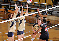Florida International University women's volleyball player Sabrina Gonzalez (12) plays against Arkansas State University.  FIU won the match 3-2 on October 21, 2011 at Miami, Florida. .