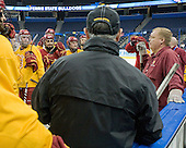 Bob Daniels (FSU - Head Coach) - The Ferris State University Bulldogs practiced on Wednesday, April 4, 2012, during the 2012 Frozen Four at the Tampa Bay Times Forum in Tampa, Florida.