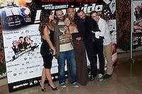 26.07.2012. Premier at Palafox Cinema in Madrid of the movie 'Impavido´, directed by Carlos Theron and starring by Marta Torne, Selu Nieto, Nacho Vidal, Carolina Bona, Julian Villagran and Manolo Solo. In the image Marta Tome, Carlos Theron, Carolina Bona, Nacho Vidal, Julian Villagran and Victor Clavijo (Alterphotos/Marta Gonzalez) /NortePhoto.com <br /> <br /> **CREDITO*OBLIGATORIO** *No*Venta*A*Terceros*<br /> *No*Sale*So*third* ***No*Se*Permite*Hacer Archivo***No*Sale*So*third*©Imagenes*con derechos*de*autor©todos*reservados*.