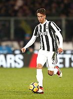 Calcio, Serie A: Fiorentina - Juventus, stadio Artemio Franchi Firenze 9 febbraio 2018.<br /> Juventus' Rodrigo Bentancur in action during the Italian Serie A football match between Fiorentina and Juventus at Florence's Artemio Franchi stadium, February 9, 2018.<br /> UPDATE IMAGES PRESS/Isabella Bonotto