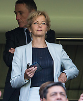 Film Actress Jenny Seagrove (wife of Everton Chairman Bill Kenwright) during the Premier League match between Chelsea and Everton at Stamford Bridge, London, England on 27 August 2017. Photo by Andy Rowland.