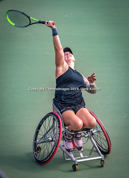 Amstelveen, Netherlands, 19 Augustus, 2020, National Tennis Center, NTC, NKR, National Wheelchair Tennis Championships, Woman's single: Michaela Spaanstra  (NED)<br /> Photo: Henk Koster/tennisimages.com