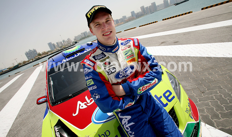**ALL ROUND PICTURES FROM SOLARPIX.COM**.**WORLDWIDE SYNDICATION RIGHTS**.Finnish rally driver Jari Latvala and his co Driver Al Qassimi at Zayed port Abu Dhabi, Abu Dhabi, Dubai, UAE. 7 April 2008. .This pic: Jari Latvala..JOB REF: 8380 DBL     DATE: 07_04_2008.**MUST CREDIT SOLARPIX.COM OR DOUBLE FEE WILL BE CHARGED* *ONLINE USAGE FEE £50.00 PER PICTURE - NOTIFICATION OF USAGE TO PHOTO@SOLARPIX.COM*