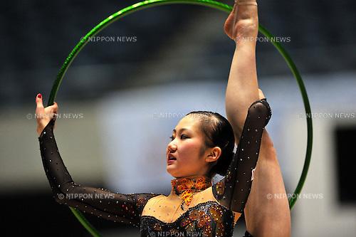 Runa Yamaguchi, APRIL 9, 2011 - Rhythmic Gymnastics :The 31st World Rhythmic Gymnastics, The 26th Summer Universiade selection, and The 5th Asian Championship representative decision at 1nd Yoyogi Gymnasium, Tokyo, Japan. (Photo by Jun Tsukida/AFLO SPORT) [0003].