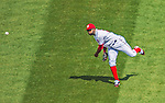 1 April 2013: Washington Nationals outfielder Denard Span in action during the Nationals' Opening Day Game against the Miami Marlins at Nationals Park in Washington, DC. The Nationals shut out the Marlins 2-0 to launch the 2013 season. Mandatory Credit: Ed Wolfstein Photo *** RAW (NEF) Image File Available ***