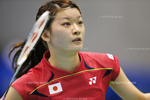 Sayaka Takahashi (JPN), June 14, 2014 - Badminton : Yonex Open Japan 2014 Women's Doubles semi final at Tokyo Metropolitan Gymnasium, Tokyo, Japan. (Photo by Yusuke Nakanishi/AFLO SPORT) [1090]