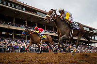 DEL MAR, CA - NOVEMBER 03: Forever Unbridled #6, ridden by John Velazquez defeats Abel Tasman #4 with Mike Smith up to win the Breeders' Cup Distaff at Del Mar Thoroughbred Club on November 03, 2017 in Del Mar, California. (Photo by Alex Evers/Eclipse Sportswire/Breeders Cup)