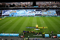 BOGOTA -COLOMBIA, 4-06-2017.General photography of the formation of teams Millonarios and Atletico Bucaramanga during the interpretation of the hymns of Bogota and Colomba in the field of play of the stadium the Campin.Action game between  Millonarios  and Atletico Bucaramanga  during match for quarter finals of the Aguila League I 2017 played at Nemesio Camacho El Campin stadium . Photo:VizzorImage / Felipe Caicedo  / Staff