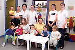 Cathy Shannon with children and staff at Gollywogs creche..Picture Paul Mohan Newsfile