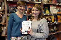 NO FEE PICTURES.21/9/12 Claire and Ellen Kruger, Drogheda at Eason on O'Connell St, for an evening of chat and questions with bestselling author of How To Be a Woman and Moranthology Caitlin Moran.Picture:Arthur Carron/Collins
