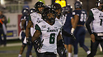 Hawaii wide receiver Cedric Byrd II (6) run off the field after scoring a touchdown against Nevada in the first half of an NCAA college football game in Reno, Nev. Saturday, Sept. 28, 2019. (AP Photo/Tom R. Smedes)