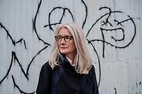 UK. London.  2nd October 2017<br /> Sally Potter photographed near her offices in East London.<br /> Andrew Testa for the New York Times