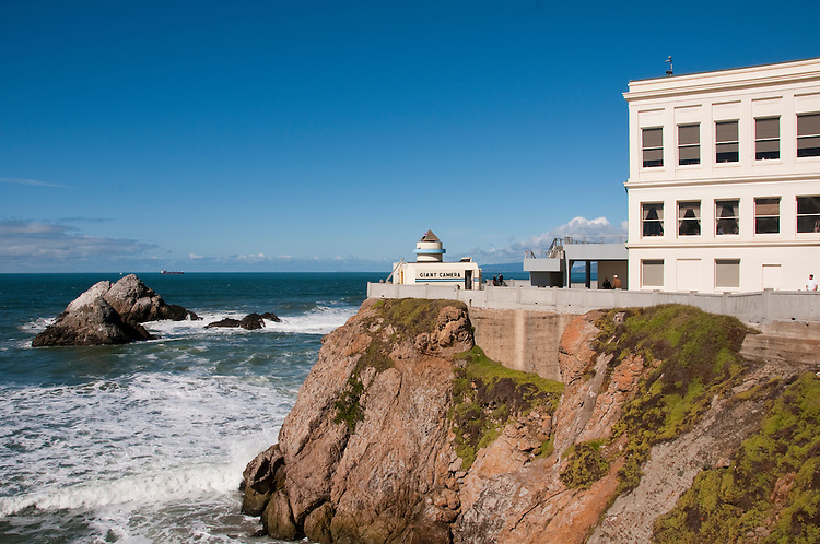 Cliff House,restaurant, and Seal Rocks, near Golden Gate Park, San Francisco, California, USA.  Photo copyright Lee Foster.  Photo # california108323
