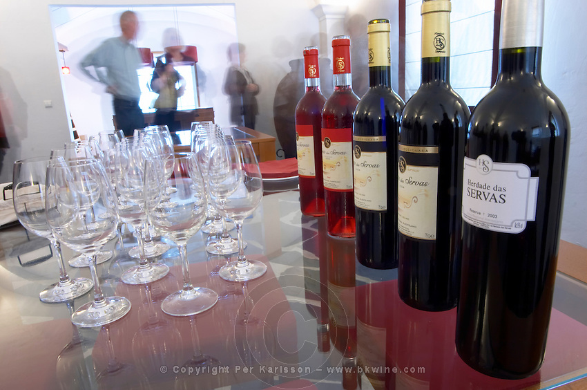 Wine tasting. Herdade das Servas, Estremoz, Alentejo, Portugal