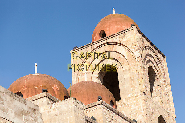 Domes and bell tower of San Giovanni Degli Eremiti Church, Palermo, Sicily, Italy<br /> August 2015<br /> CAP/MEL<br /> &copy;MEL/Capital Pictures