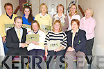 Jason Clifford, Manager, The Dunloe Hotel, Beaufort, pictured presenting first team prize to Margaret Guerin at the Ladies Open Day at Beaufort Golf Club on Thursday. Also pictured are Anne Lehane, second team, Irene McCarthy, lady catain, Sally Filby, first team, Nicola Rainsfiord, first Team, Sally Cooper, their team, Maureen Rooney, nearest the pin, Margaret Attridge, second team and Valerie Cullinane, second team.......PR SHOT..NO REPRODUCTION FEE..................................................................