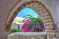 An arch in the castle (kastro) of Chora in Naxos island, Greece