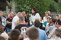 16-05-23 Protest gegen Asylunterkunft in Altglienicke