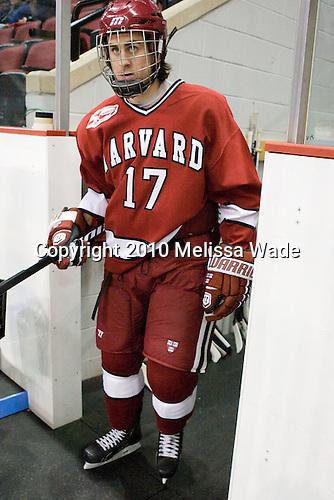 Rence Coassin (Harvard - 17) - The Boston University Terriers defeated the visiting Harvard University Crimson 5-2 on Saturday, January 15, 2011, at Agganis Arena in Boston, Massachusetts.