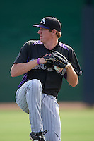 Colorado Rockies pitcher Mike ZImmerman (51) during practice before an instructional league game against the SK Wyverns on October 10, 2015 at the Salt River Fields at Talking Stick in Scottsdale, Arizona.  (Mike Janes/Four Seam Images)