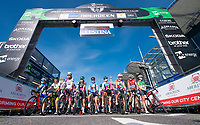 Picture by Allan McKenzie/SWpix.com - 17/05/2018 - Cycling - OVO Energy Tour Series Womens Race - Round 2:Aberdeen - The womens race lines up under the gantry.