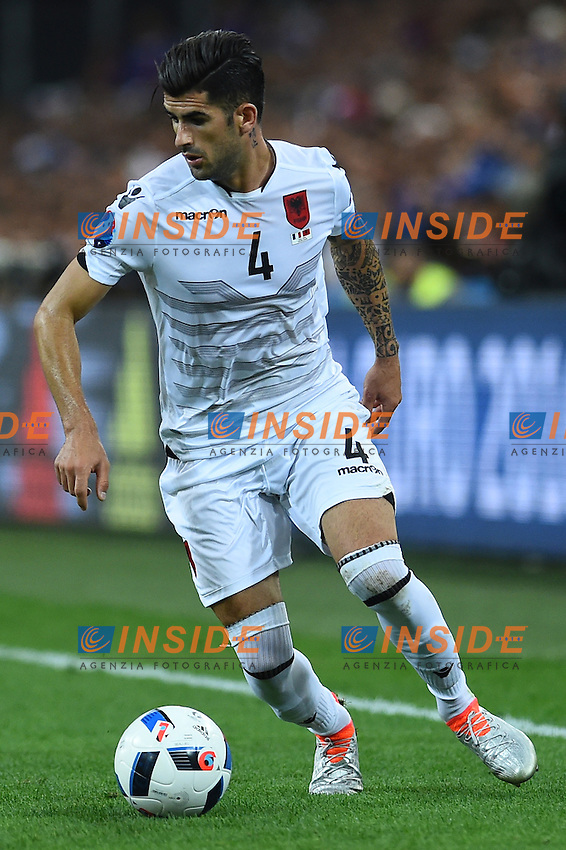 Elseid Hysaj Albania<br /> Marseille 15-06-2016 Stade du Velodrome <br /> Football Euro2016 France-Albanie/Francia-Albania Group Stage Group A<br /> Foto Massimo Insabato / Insidefoto
