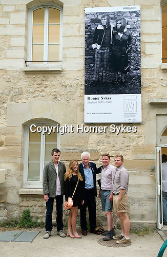 Theo, Tallulah, HWS, Jacob, Nick. 26/06/2014 Maison de la Photographic Robert Doisneau Paris.Opening Night.