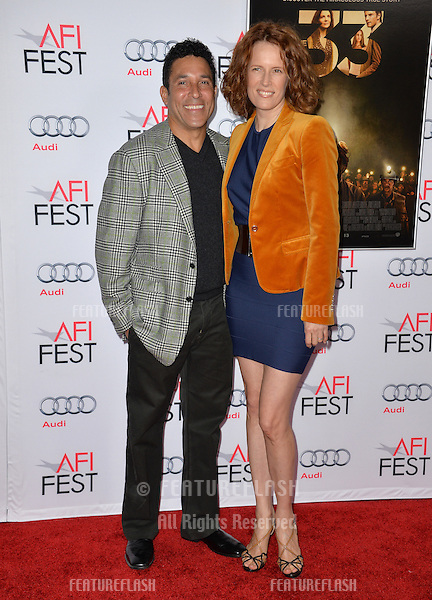 Actor Oscar Nunez &amp; actress wife Ursula Whittaker at the premiere of &quot;The 33&quot;, part of the AFI FEST 2015, at the TCL Chinese Theatre, Hollywood. <br /> November 9, 2015  Los Angeles, CA<br /> Picture: Paul Smith / Featureflash
