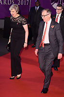 prime Minister Theresa May and husband, Phillip<br /> at the Pride of Britain Awards 2017 held at the Grosvenor House Hotel, London<br /> <br /> <br /> &copy;Ash Knotek  D3342  30/10/2017