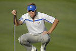 European Team player Ian Poulter lines up his putt on the 4th green during the Morning Foursomes on Day1 of the Ryder Cup at Valhalla Golf Club, Louisville, Kentucky, USA, 19th September 2008 (Photo by Eoin Clarke/GOLFFILE)