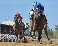 Hamazing Destiny wins the Maryland Sprint Handicap on the undercard on Preakness Day at Pimlico Race Course on May 19, 2012