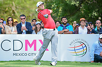 Jon Rahm (ESP) watches his tee shot on 6 during round 4 of the World Golf Championships, Mexico, Club De Golf Chapultepec, Mexico City, Mexico. 3/5/2017.<br /> Picture: Golffile | Ken Murray<br /> <br /> <br /> All photo usage must carry mandatory copyright credit (&copy; Golffile | Ken Murray)