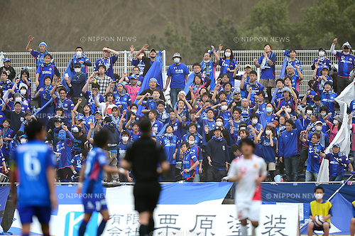FCFC Machida Zelvia fans,.MARCH 10, 2013 - Football / Soccer :.2013 Japan Football League (JFL) match between FC Machida Zelvia 0-1 Fukushima United FC at Machida City Athletic Stadium in Tokyo, Japan. (Photo by AFLO)