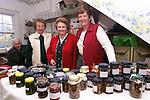 Margaret Hepburn, Barbara Baynham and Kathleen Kirkpatrick at the Christmas Craft Fair for St. Peter's Church of Ireland in Dardistown Castle..Picture: Paul Mohan/Newsfile
