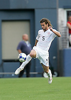 Kyle Beckerman controls the ball. USA defeated Grenada 4-0 during the First Round of the 2009 CONCACAF Gold Cup at Qwest Field in Seattle, Washington on July 4, 2009.