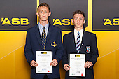Boys Football finalists Luke Adams and Stephen Carmichael. ASB College Sport Young Sportsperson of the Year Awards held at Eden Park, Auckland, on November 24th 2011.