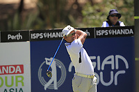 Yusaku Miyazato (JPN) in action on the 2nd during Round 3 of the ISPS Handa World Super 6 Perth at Lake Karrinyup Country Club on the Saturday 10th February 2018.<br /> Picture:  Thos Caffrey / www.golffile.ie<br /> <br /> All photo usage must carry mandatory copyright credit (&copy; Golffile | Thos Caffrey)