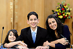 Bar Mitzvah Candle Lighting<br /> Family Bar Mitzvah Photography<br /> Temple Beth El, Northern Westchester