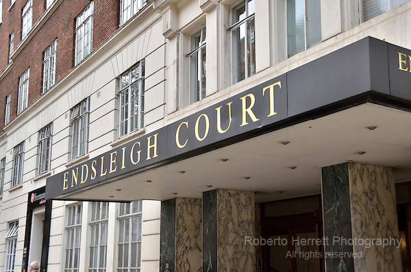 Endsleigh Court apartment building in Upper Woburn Place, London, UK.